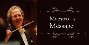 Maestro's message (March)